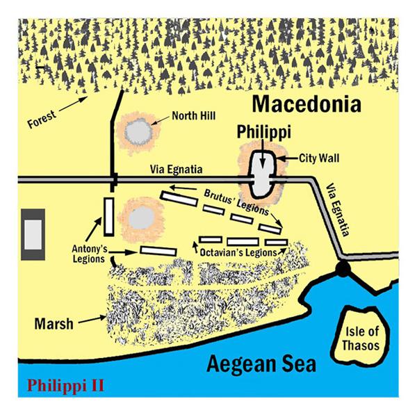 Ελληνικός Σύλλογος Φίλων Ιστορίας και Παιγνιδιών Στρατηγικής Η Μάχη των Φιλίππων (42 π.Χ.)